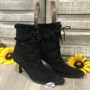 Go by Anne Klein Faux Suede Booties Black 7.5M